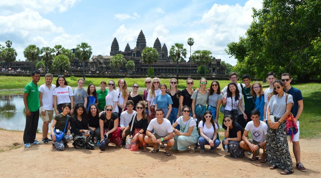 Projects Abroad volunteers explore Angkor Wat in Cambodia.